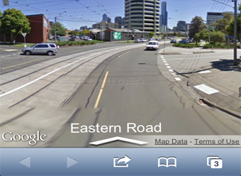 how to get google street view on iphone ios 6